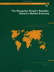 Cover of: The Mongolian People's Republic | by Elizabeth Milne ... [et al.].