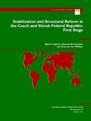Cover of: Stabilization and structural reform in the Czech and Slovak Federal Republic | Bijan B. Aghevli