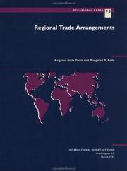 Cover of: Regional trade arrangements | Torre, Augusto de la.