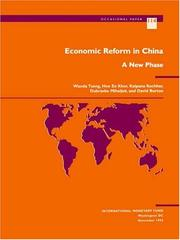 Cover of: Economic reform in China | Wanda Tseng