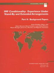 Cover of: IMF conditionality |