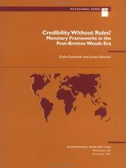 Cover of: Credibility without rules?