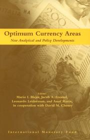 Cover of: Optimum currency areas