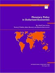 Cover of: Monetary policy in dollarized economies