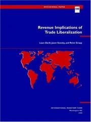 Cover of: Revenue Implications of Trade Liberalization (Occasional Paper (Intl Monetary Fund)) | Liam Ebrill