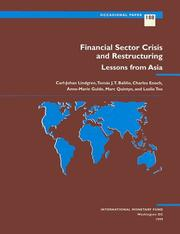 Cover of: Financial Sector Crisis and Restructuring