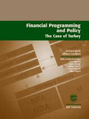Cover of: Financial programming and policy | Barth, Richard C.