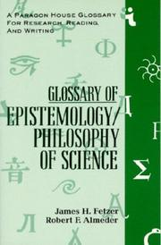 Cover of: Glossary of epistemology/philosophy of science