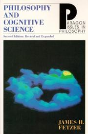 Cover of: Philosophy and cognitve science