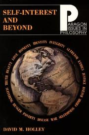Cover of: Self-Interest and Beyond | David M. Holley
