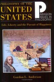 Cover of: Philosophy of the United States | Gordon L. Anderson