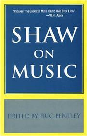 Cover of: Shaw on Music