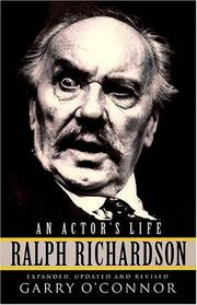 Cover of: Ralph Richardson - An Actor's Life