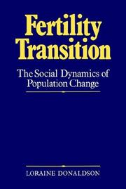 Cover of: Fertility transition | Loraine Donaldson