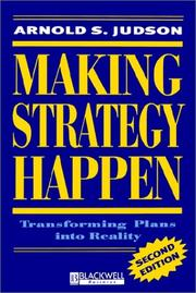 Cover of: Making Strategy Happen