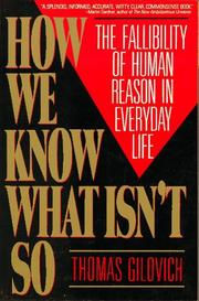 Cover of: How We Know What Isn