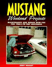 Cover of: Mustang Weekend Projects 1964-1967