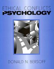 Cover of: Ethical conflicts in psychology |