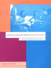 Cover of: Creating culturally responsive classrooms