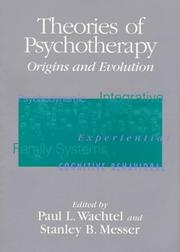 Cover of: Theories of Psychotherapy