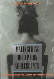 Cover of: Malingering and deception in adolescents