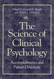 Cover of: The science of clinical psychology |