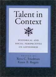 Cover of: Talent in Context |