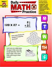 Cover of: Daily Math Practice, Grades 6+ | Wess Tuttle