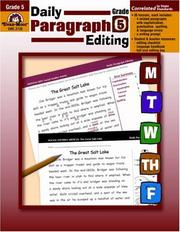 Cover of: Daily Paragraph Editing, Grade 5 by Lisa V. Mathews