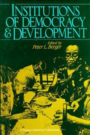Cover of: Institutions of Democracy and Development (A Sequoia Seminar)