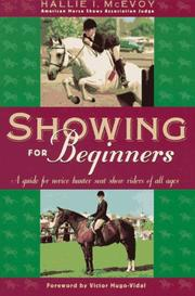 Cover of: Showing for beginners