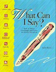 Cover of: What can I say?