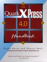 Cover of: The QuarkXPress 4.0 handbook