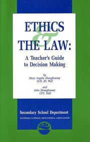 Cover of: Ethics & the law