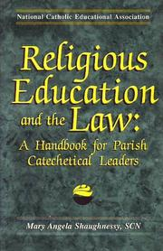 Cover of: Religious education and the law