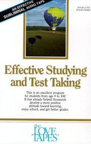 Cover of: Effective Studying and Test Taking (Love Tapes) | Robert Griswold