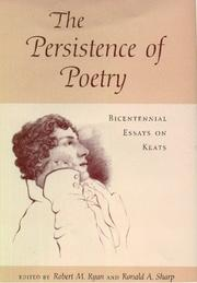 Cover of: The persistence of poetry |