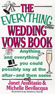Cover of: The everything wedding vows book