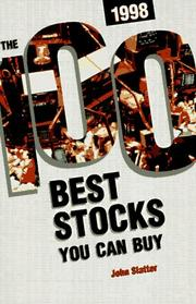 Cover of: The 100 Best Stocks You Can Buy, 1998