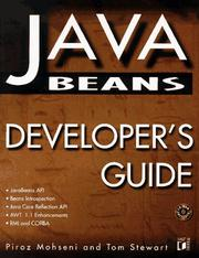 JavaBeans developer's guide by Piroz Mohseni