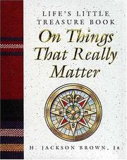 Cover of: Life's little treasure book on things that really matter