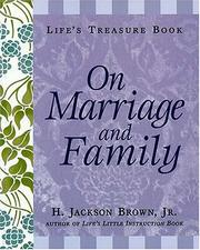 Cover of: Life's Treasure Book on Marriage and Family