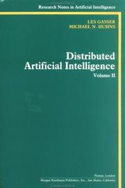 Cover of: Distributed Artificial Intelligence  | Les Gasser