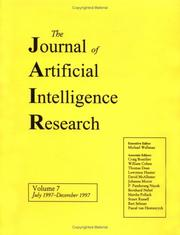 Cover of: Journal of Artificial Intelligence Research, Volume 7 (JAIR) | JAIR