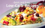 Cover of: Quick and Easy Low Carb Recipes (Nitty Gritty Cookbooks)