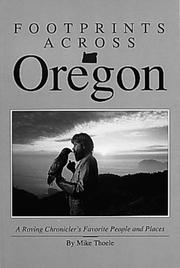 Cover of: Footprints across Oregon | Michael Thoele