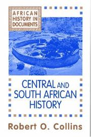 Cover of: African history: text and readings.