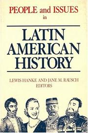 Cover of: People and Issues in Latin American History: From Independence to the Present  | Lewis Hanke