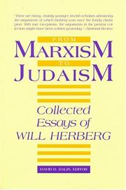 Cover of: From Marxism to Judaism
