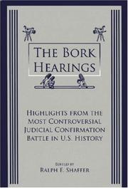 Cover of: The Bork Hearings